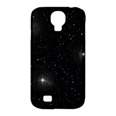 Starry Galaxy Night Black And White Stars Samsung Galaxy S4 Classic Hardshell Case (pc+silicone)