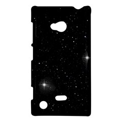 Starry Galaxy Night Black And White Stars Nokia Lumia 720