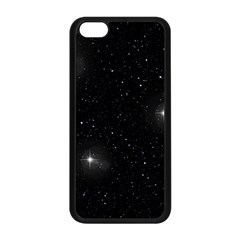 Starry Galaxy Night Black And White Stars Apple Iphone 5c Seamless Case (black)
