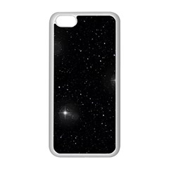Starry Galaxy Night Black And White Stars Apple Iphone 5c Seamless Case (white)