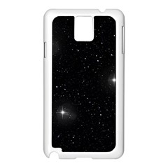 Starry Galaxy Night Black And White Stars Samsung Galaxy Note 3 N9005 Case (white)
