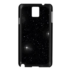 Starry Galaxy Night Black And White Stars Samsung Galaxy Note 3 N9005 Case (black)