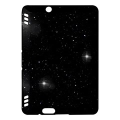 Starry Galaxy Night Black And White Stars Kindle Fire Hdx Hardshell Case