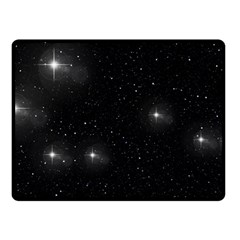 Starry Galaxy Night Black And White Stars Double Sided Fleece Blanket (small)
