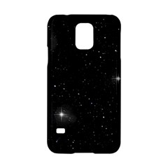 Starry Galaxy Night Black And White Stars Samsung Galaxy S5 Hardshell Case