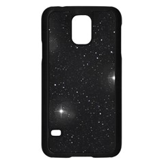 Starry Galaxy Night Black And White Stars Samsung Galaxy S5 Case (black)