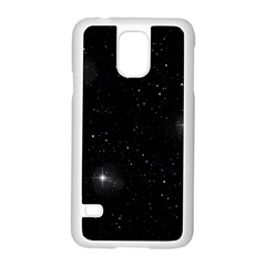 Starry Galaxy Night Black And White Stars Samsung Galaxy S5 Case (white)