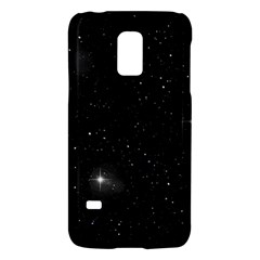 Starry Galaxy Night Black And White Stars Galaxy S5 Mini