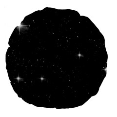 Starry Galaxy Night Black And White Stars Large 18  Premium Flano Round Cushions