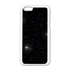 Starry Galaxy Night Black And White Stars Apple Iphone 6/6s White Enamel Case