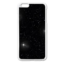Starry Galaxy Night Black And White Stars Apple Iphone 6 Plus/6s Plus Enamel White Case