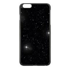 Starry Galaxy Night Black And White Stars Apple Iphone 6 Plus/6s Plus Black Enamel Case