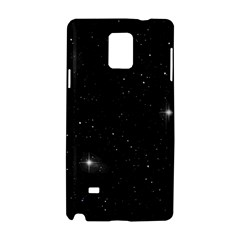 Starry Galaxy Night Black And White Stars Samsung Galaxy Note 4 Hardshell Case