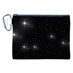 Starry Galaxy Night Black And White Stars Canvas Cosmetic Bag (xxl)