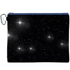 Starry Galaxy Night Black And White Stars Canvas Cosmetic Bag (xxxl)