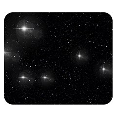 Starry Galaxy Night Black And White Stars Double Sided Flano Blanket (small)
