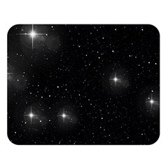 Starry Galaxy Night Black And White Stars Double Sided Flano Blanket (large)