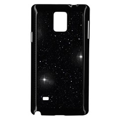 Starry Galaxy Night Black And White Stars Samsung Galaxy Note 4 Case (black)