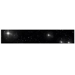 Starry Galaxy Night Black And White Stars Large Flano Scarf