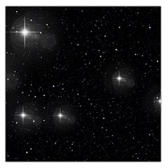 Starry Galaxy Night Black And White Stars Large Satin Scarf (square)