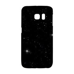 Starry Galaxy Night Black And White Stars Galaxy S6 Edge