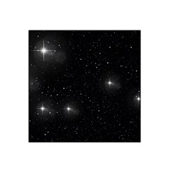 Starry Galaxy Night Black And White Stars Satin Bandana Scarf