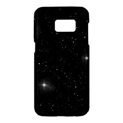 Starry Galaxy Night Black And White Stars Samsung Galaxy S7 Hardshell Case