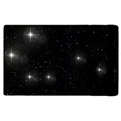 Starry Galaxy Night Black And White Stars Apple Ipad Pro 9 7   Flip Case