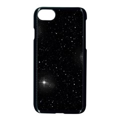 Starry Galaxy Night Black And White Stars Apple Iphone 7 Seamless Case (black)