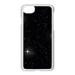 Starry Galaxy Night Black And White Stars Apple Iphone 7 Seamless Case (white)