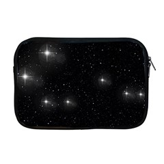 Starry Galaxy Night Black And White Stars Apple Macbook Pro 17  Zipper Case