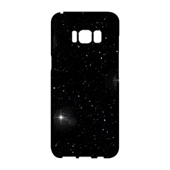 Starry Galaxy Night Black And White Stars Samsung Galaxy S8 Hardshell Case