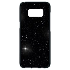Starry Galaxy Night Black And White Stars Samsung Galaxy S8 Black Seamless Case