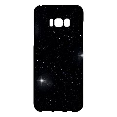 Starry Galaxy Night Black And White Stars Samsung Galaxy S8 Plus Hardshell Case