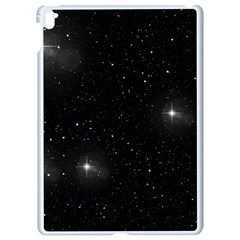 Starry Galaxy Night Black And White Stars Apple Ipad Pro 9 7   White Seamless Case