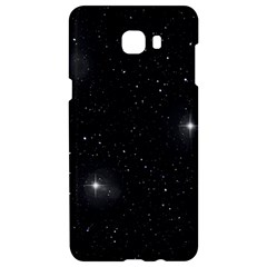 Starry Galaxy Night Black And White Stars Samsung C9 Pro Hardshell Case