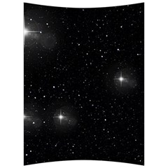 Starry Galaxy Night Black And White Stars Back Support Cushion