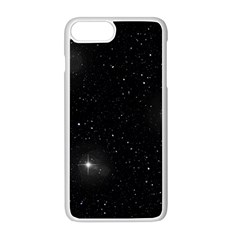 Starry Galaxy Night Black And White Stars Apple Iphone 8 Plus Seamless Case (white)