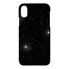 Starry Galaxy Night Black And White Stars Apple Iphone X Hardshell Case