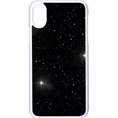 Starry Galaxy Night Black And White Stars Apple Iphone X Seamless Case (white)