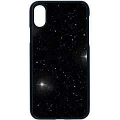 Starry Galaxy Night Black And White Stars Apple Iphone X Seamless Case (black)