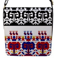 Bulgarian Folk Art Folk Art Flap Messenger Bag (s)