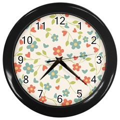Abstract Art Background Colorful Wall Clocks (black)