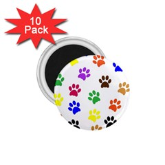 Pawprints Paw Prints Paw Animal 1 75  Magnets (10 Pack)