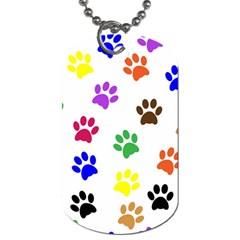 Pawprints Paw Prints Paw Animal Dog Tag (one Side)