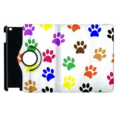 Pawprints Paw Prints Paw Animal Apple Ipad 3/4 Flip 360 Case