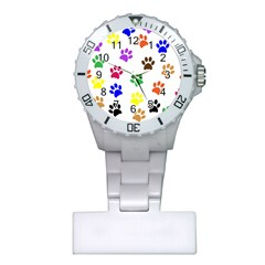 Pawprints Paw Prints Paw Animal Plastic Nurses Watch