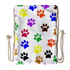 Pawprints Paw Prints Paw Animal Drawstring Bag (large)