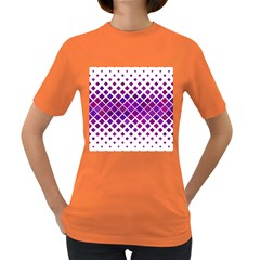 Pattern Square Purple Horizontal Women s Dark T Shirt