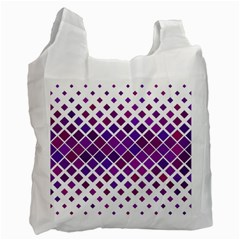 Pattern Square Purple Horizontal Recycle Bag (two Side)